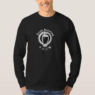 Camiseta Elaboración de la cerveza del arte, negro y blanco