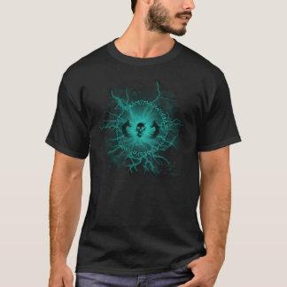 Camiseta eléctrica de la runa y del cráneo (negro)
