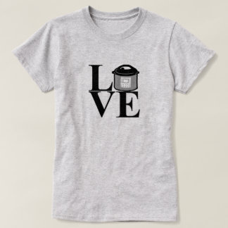 Camiseta eléctrica del AMOR de la olla de presión