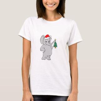 Camiseta Elefante (gorra de Santa)