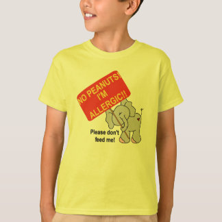 Camiseta Elefante ningunos cacahuetes soy alérgico