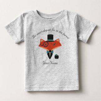 Camiseta elegante del jersey del bebé del Fox