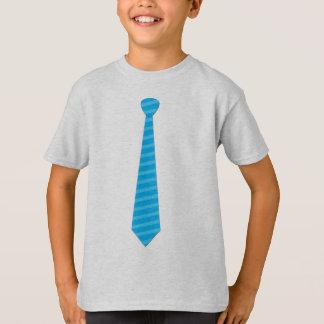 Camiseta elegante del lazo de las rayas de azules