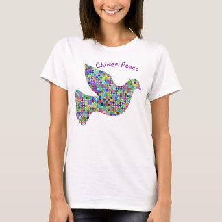 Camiseta Elija la paz con el gráfico de la paloma