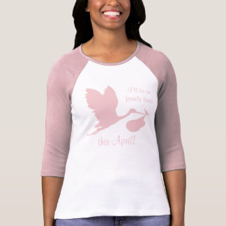 Camiseta Embarazo Annoucement para la mamá