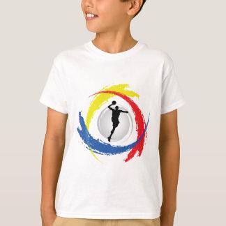 Camiseta Emblema tricolor del baloncesto