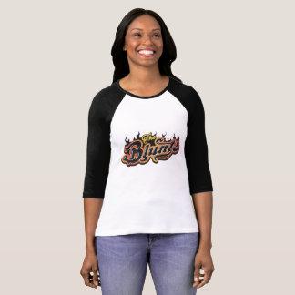 Camiseta Embota el raglán de las señoras clásicas de la