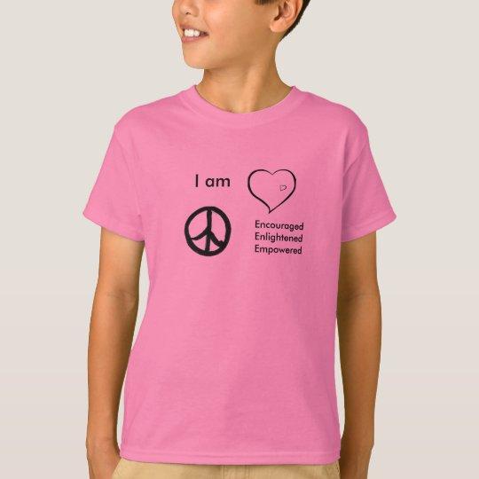 Camiseta embroma la paz de la camiseta, amor