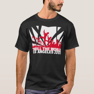 Camiseta emocione el negro 2009 del ~ de Los Ángeles del