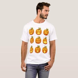 Camiseta Emoji de las Multi-caras de la calabaza de