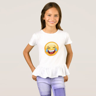 Camiseta ¡Emoji divertido que llora con risa y alegría!