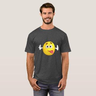 Camiseta Emoji divertido que pega hacia fuera la lengua