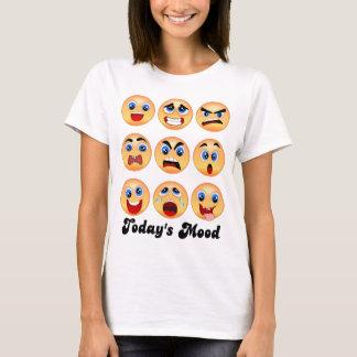 Camiseta ¿emoji, emoticon, humor de hoy, oscilación de