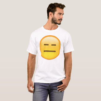 Camiseta Emoji - inexpresivo