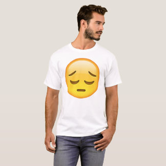 Camiseta Emoji - pensativo
