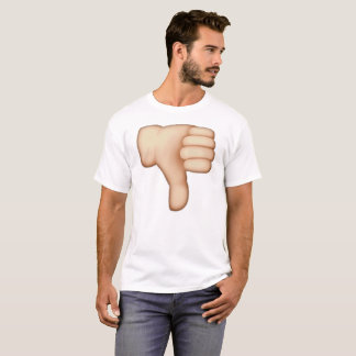 Camiseta Emoji - pulgares abajo