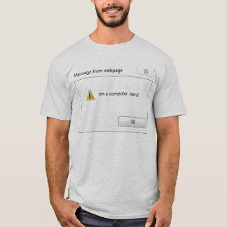 Camiseta empollón del ordenador
