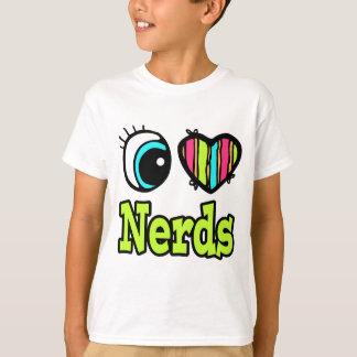 Camiseta Empollones brillantes del amor del corazón I del