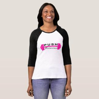 Camiseta Empuje el béisbol T de la aptitud