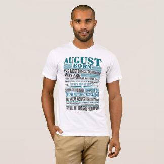 Camiseta En agosto presente mejor llevado para hombre y