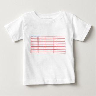 Camiseta en blanco de la lista de verificación del