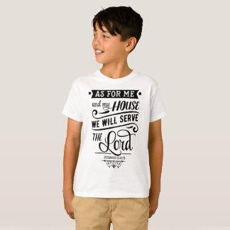 Camiseta En cuanto a mí y a mi casa serviremos al SEÑOR
