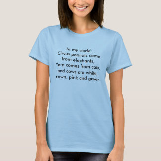 Camiseta En mi mundo: El hilado viene de gatos…