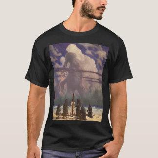 Camiseta En su casa en R'lyeh, Cthulhu muerto espera