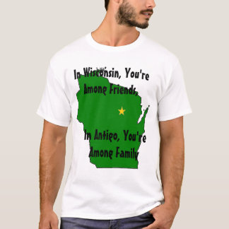 Camiseta En Wisconsin, usted está entre amigos,…