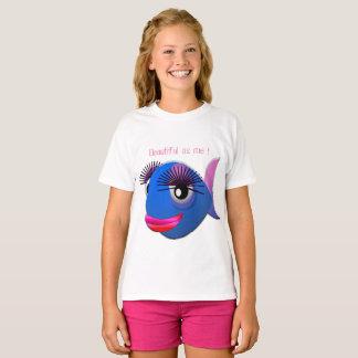 Camiseta encantando a pescado estilizado