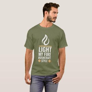 Camiseta Encienda mi estilo de Bushcraft del fuego