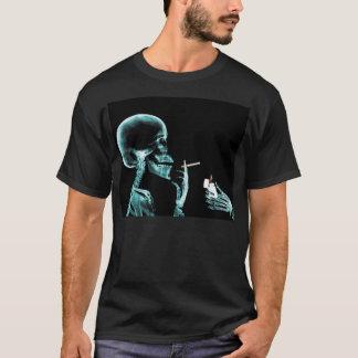 Camiseta encienda para arriba un skeloton de la radiografía