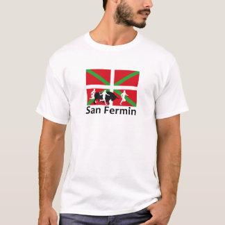Camiseta Encierro de San Fermín en Pamplona y bandera
