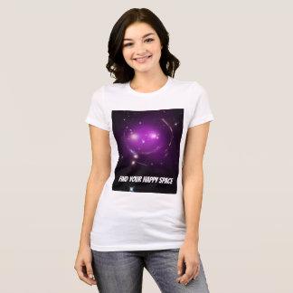 Camiseta Encuentre su espacio feliz