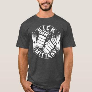 Camiseta enferma del hockey de las manoplas de la