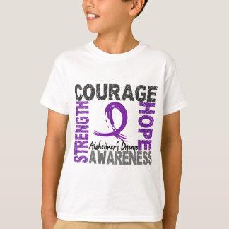 Camiseta Enfermedad de Alzheimer de la esperanza del valor