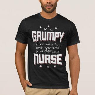 Camiseta ENFERMERA pagada mal con exceso de trabajo GRUÑONA