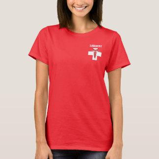 Camiseta Enfermera Rod del caduceo de Asclepius