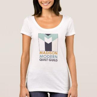 Camiseta enojada del cuello en v de la MOD