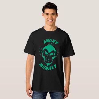 Camiseta enojada del mono