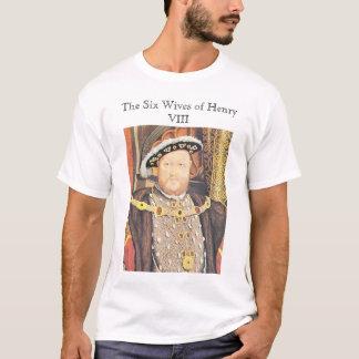 Camiseta Enrique VIII, las seis esposas del Enrique VIII