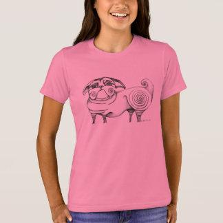 Camiseta enrrollada del bosquejo del barro amasado