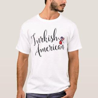 Camiseta entrelazada americano turco de los