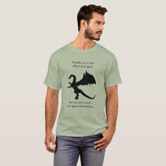Camiseta Entrométase no en los asuntos de dragones