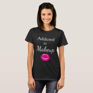 Camiseta Enviciado labios a los negros del maquillaje la