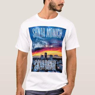 Camiseta envuelta cortocircuito de Santa Mónica,