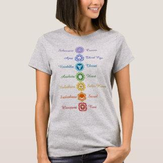 Camiseta Equilibrio sánscrito de la energía de siete