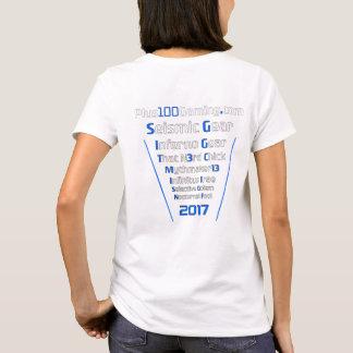 Camiseta Equipo +Camiseta 2017 del juego 100 para mujer