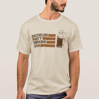 Camiseta equipo de consumición de la despedida de soltero