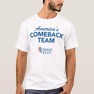 Camiseta Equipo de la reaparición de Romney Ryan América